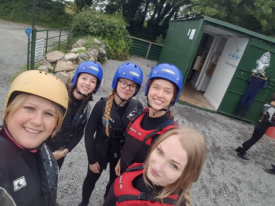 Sinead at Rusheen Bay Watersports doing kayaking and stand up paddling with her international students this summer.